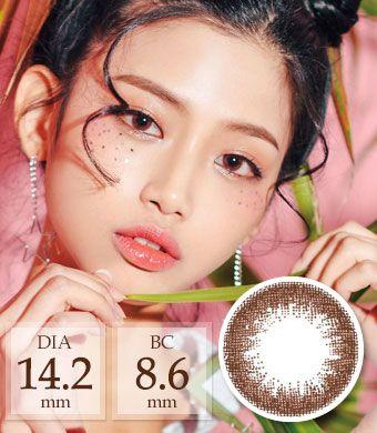 【1ヶ月カラコン】 Add Choco / 1457</BR>DIA:14.2mm, 度あり‐6.00まで