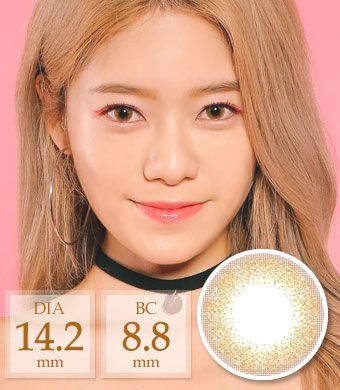 [1ヶ月着用/シリコンハイドロゲル] Club gold pearl / 1465</BR>DIA:14.2mm, 度あり‐6.00まで