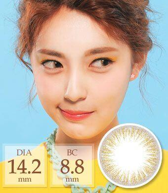 [1ヶ月着用/シリコンハイドロゲル] Touch gold pearl / 1467</BR>DIA:14.2mm, 度あり‐6.00まで