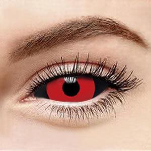 スクレラレンズ 全眼カラコン Black+Red Sclera 2217 / 22mm / 1492
