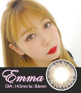 【1年カラコン】Emma Gray / 1340</BR>DIA:14.0mm, 度あり‐8.00まで