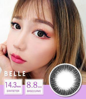 【12ヶ月カラコン】 Belle black /1440 </br>DIA:14.3mm, 度あり‐8.00まで