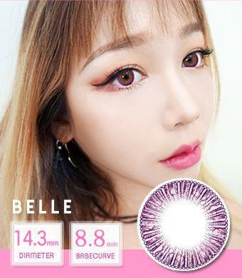 【12ヶ月カラコン】 Belle pink / 1443 </BR>DIA:14.3mm, 度あり‐8.00まで