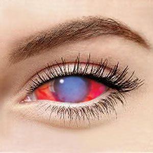 スクレラレンズ 全眼カラコンBlue+Red Sclera 069 / 22mm / 1495