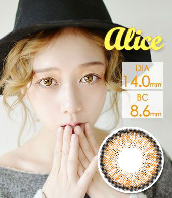 【乱視/6ヶ月カラコン】Alice  BT toric Brown /827 </br> DIA:14.0mm, G.DIA:13.8mm