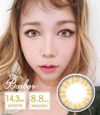 【12ヶ月カラコン】 Barbara brown / 1416</BR>DIA:14.3mm, 度あり‐10.00まで