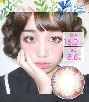【1年カラコン】スーパーワールド 4 tone Violet / 620</BR>DIA:16.0mm, 度あり‐8.00まで