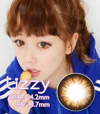 【1年カラコン/シリコーンハイドロゲル】Lizzy Brown / 679</BR>DIA:14.2mm, 度あり‐10.00まで