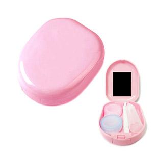 【レンズケース】 Round Pink Contact Lens Case / 1516