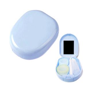 【レンズケース】 Round Blue Contact Lens Case / 1517