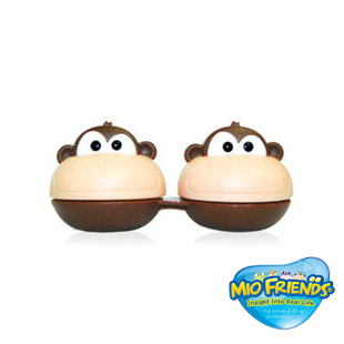 【レンズケース】 3D Character Monkee Contact Lens Case / 1520