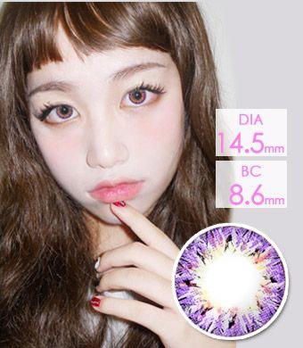 【1年カラコン】ベリア VILLEA Violet /1266</br>DIA:14.5mm, 度あり‐8.00まで
