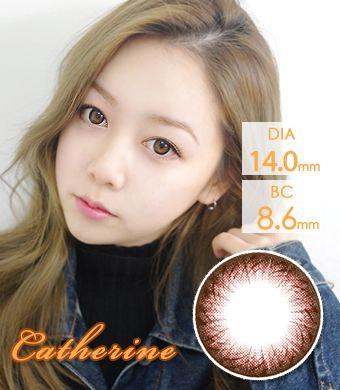 【1年カラコン】Catherine Choco (TR8) / 1267</br>DIA:14.0mm, 度あり‐8.00まで