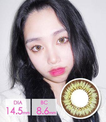 【乱視/12ヶ月カラコン】 Needstem Green toric / 1287 </br> DIA:14.2mm, G.DIA:13.8mm