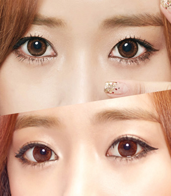 【ベスト2セット/乱視】 Aida Brown + Envy Choco<br> DIA:14.0mm, G.DIA:13.1mm/13.4mm