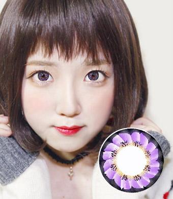 【1年カラコン】 Caroline(LF3) Violet / 099</BR>DIA:14.5mm, 度なし