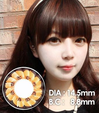【1年カラコン】 Caroline(LF3) Brown / 095</BR>DIA:14.5mm,  度あり‐10.00まで