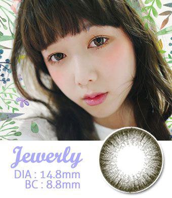 【1年カラコン】Jewelry Gray / 061</BR>DIA:14.8mm, 度あり‐8.00まで
