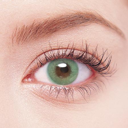 【度なし】【ホログラムカラコン】 Romance Green / 1502 <br> DIA:14.0mm