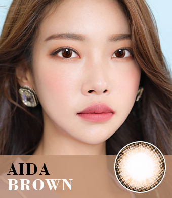 【乱視/6-12ヶ月カラコン】AIDA Brown Toric / 1042</br> DIA:14.0mm, G.DIA:13.4mm