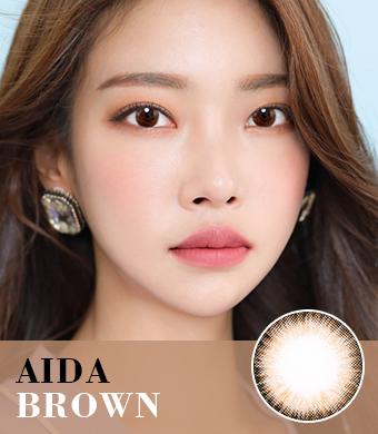 【遠視/6-12ヶ月カラコン】AIDA Brown / 1085</br> DIA:14.0mm, 度あり+8.00まで