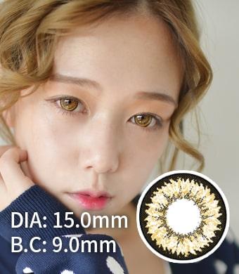 【1年カラコン】 Daisy(K17) Brown / 711</BR>DIA:15.0mm, 度あり‐10.00まで