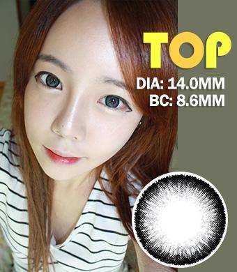 【1年カラコン】Top plus Gray / 041</BR>DIA:14.0mm, 度あり‐8.00まで